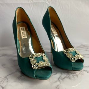 Badgley Mischka Peep Toe Pumps- Authenticated